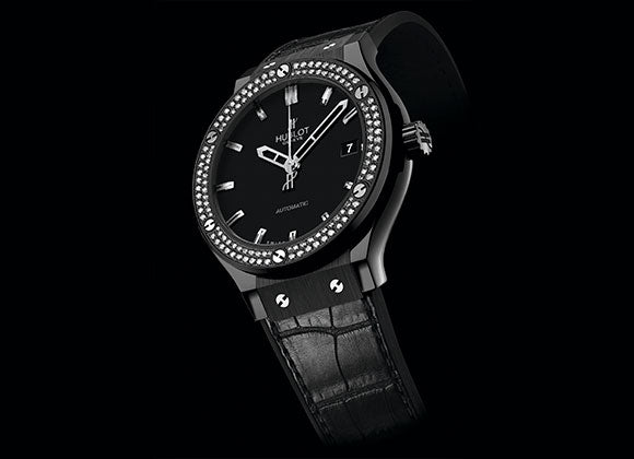 Hublot Classic Fusion 38 mm Black Magic Diamonds - Crystal group