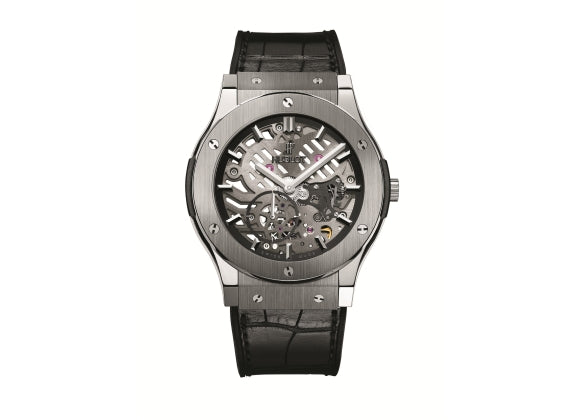 Hublot Classic Fusion 45 mm Classico Ultra-Thin Skeleton Titanium - Crystal group