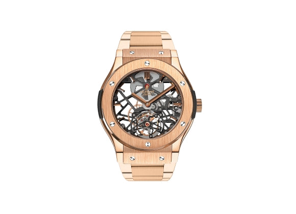Hublot Classic Fusion 45 mm Skeleton Tourbillon King Gold - Crystal group