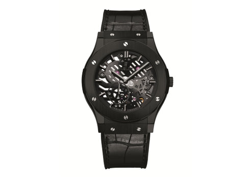 Hublot Classic Fusion 45 mm Ultra-Thin Skeleton All Black - Crystal group