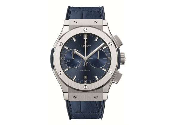 Hublot Classic Fusion 45 mm Blue Chronograph Titanium - Crystal group