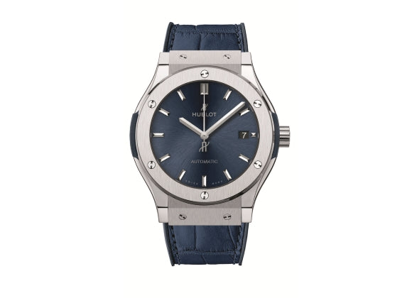 Hublot Classic Fusion 45 mm Blue Titanium - Crystal group