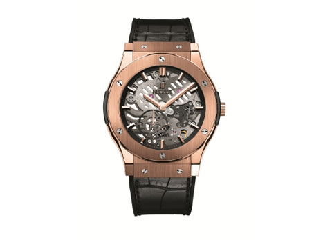 Hublot Classic Fusion 45 mm Classico Ultra-Thin Skeleton King Gold
