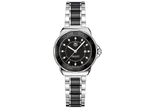 Watch Formula 1 Ladies Steel and Ceramic 37 mm Black Bracelet