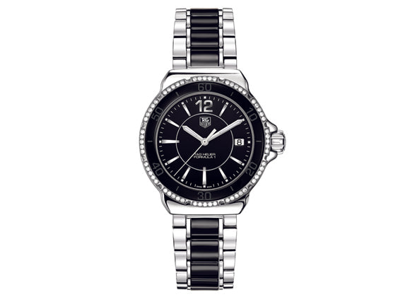 Украденные часы Watch Formula 1 Ladies Steel and Ceramic Diamonds 37 mm Black Bracelet - Crystal group