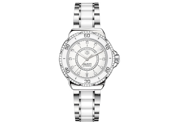 Watch Formula 1 Ladies Steel and Ceramic Diamonds 37 mm White Bracelet