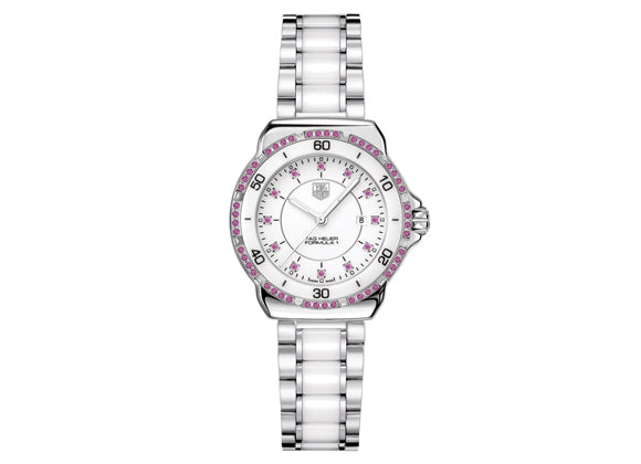 Украденные часы Watch Formula 1 Ladies Steel and Ceramic Sapphires 37 mm White Bracelet - Crystal group