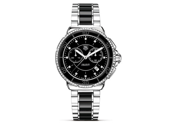 Watch Formula 1 Steel Ceramic Diamonds Chronograph 41 mm Black