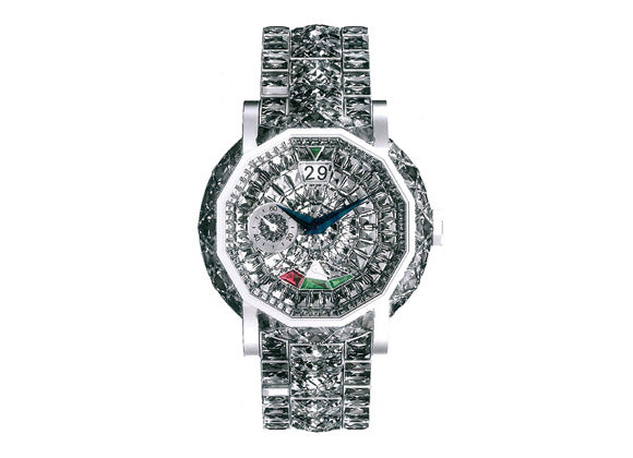 Graff watches GraffStar Grand Date 45mm, full pave diamond bracelet - Crystal group