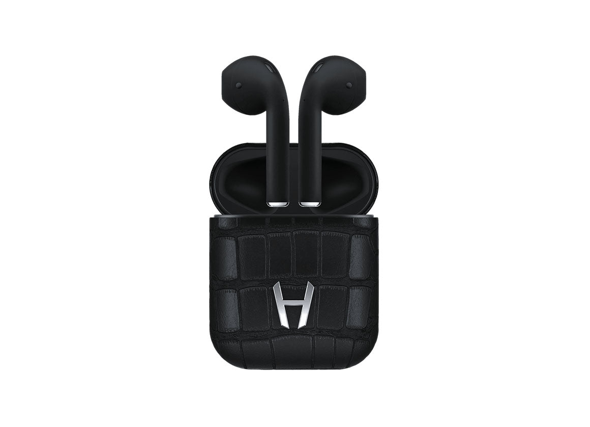 Hadoro Airpods Alligator Black - Crystal group