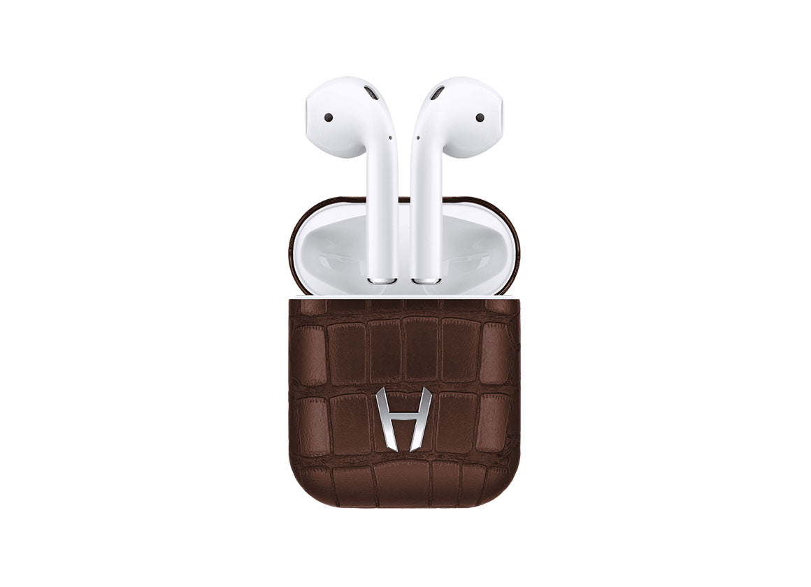 Hadoro Airpods Alligator Brown - Crystal group
