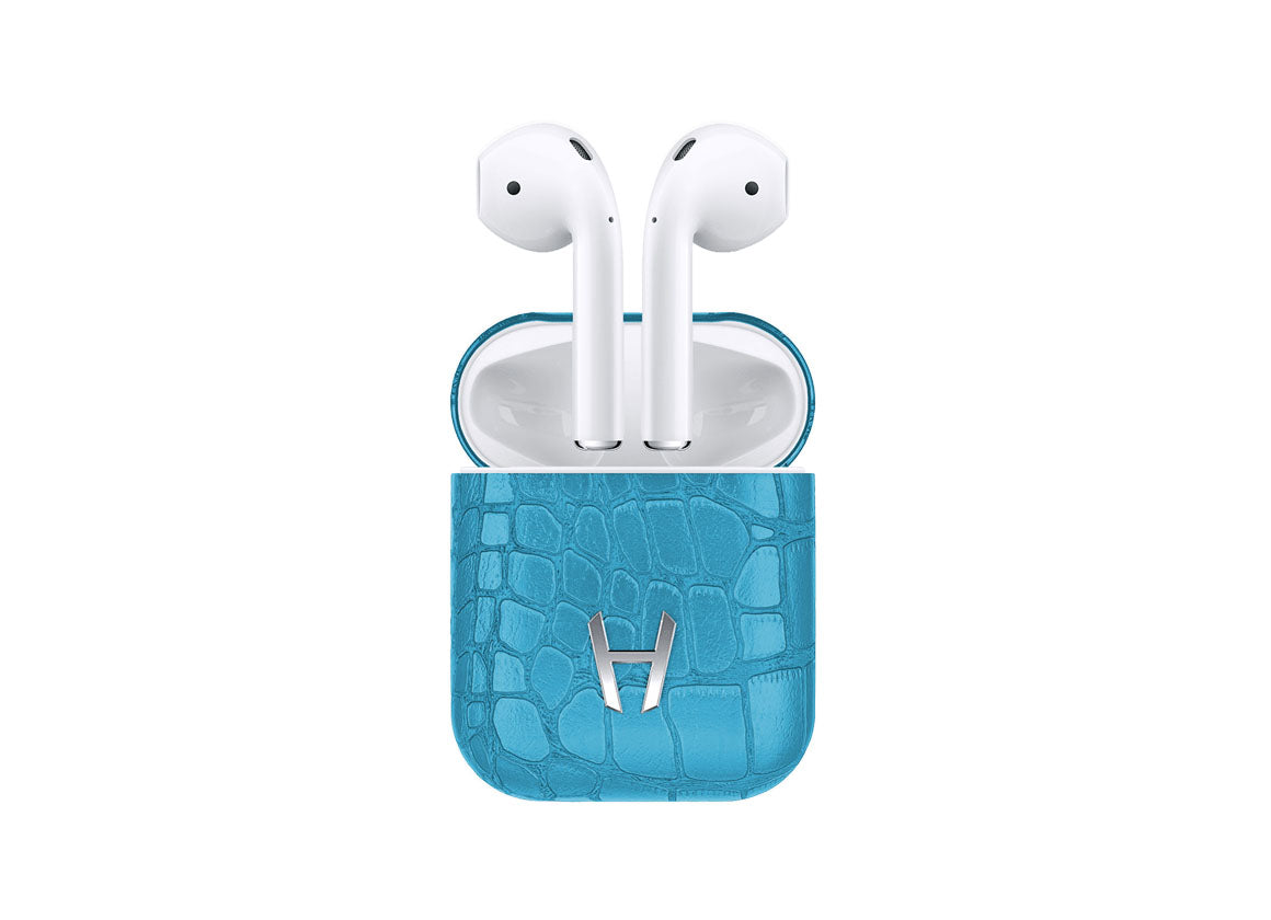 Hadoro Airpods Alligator Blue Teal - Crystal group