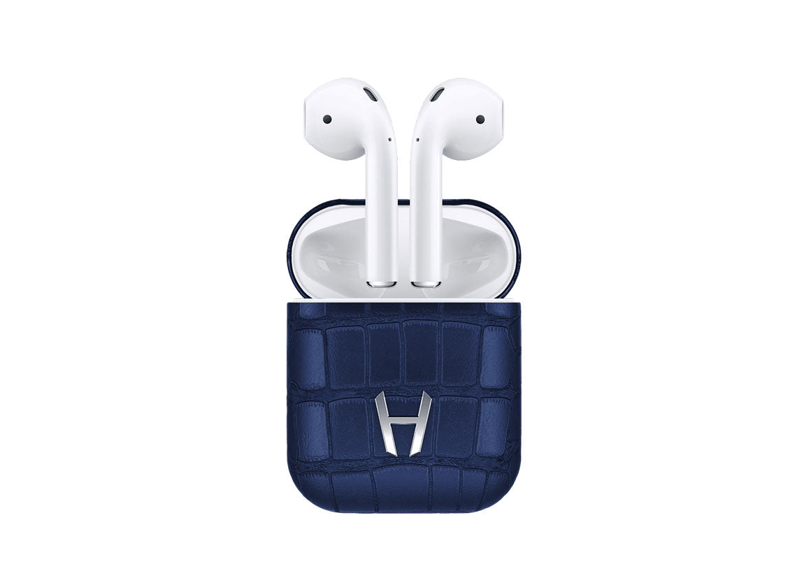 Hadoro Airpods Alligator Navy Blue - Crystal group