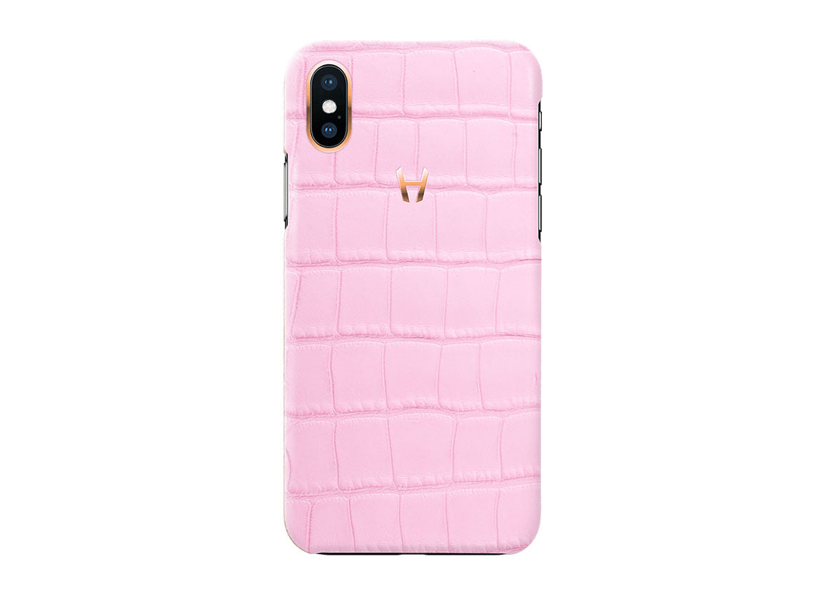 Hadoro Rose Alligator Case for iPhone X Plated Gold - Crystal group