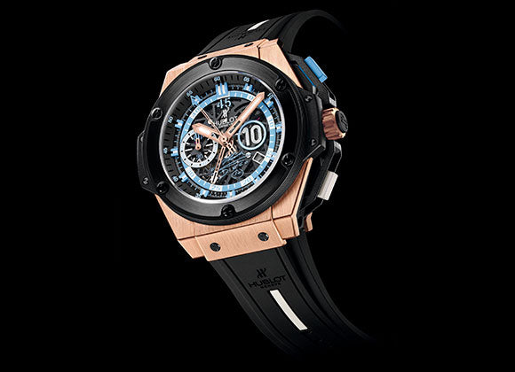 Hublot King Power 48 mm Maradona King Gold Ceramic - Crystal group