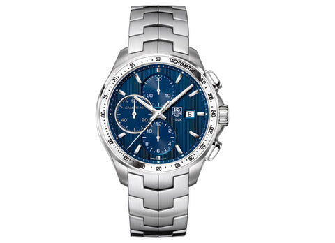 Украденные часы Watch Link Calibre 16 Automatic Chronograph 43 mm Blue - Crystal group