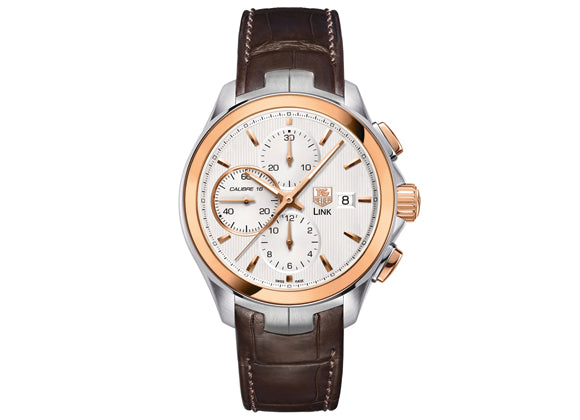 Украденные часы Watch Link Calibre 16 Automatic Chronograph 43 mm Steel and Rosegold - Crystal group