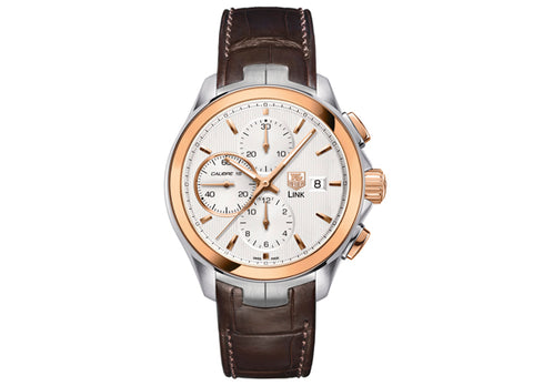 Watch Link Calibre 16 Automatic Chronograph 43 mm Steel and Rosegold