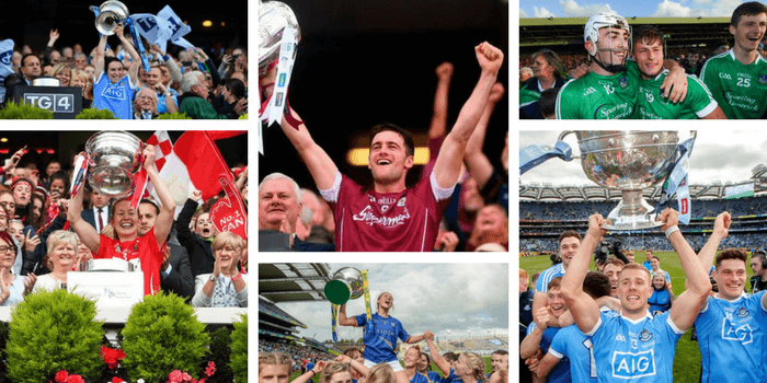 The Definitive List Of Inter County All Ireland Winners 2017 in Football, Hurling & Camogie At All Levels.