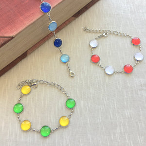 County Colour Cabochon Bracelets