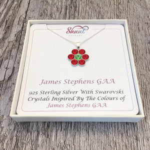 Create Your Own GAA Club Colours Sterling Silver Pendant With Swarovski Crystals - Shuul