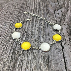 Antrim GAA Ladies County Colours Cabochon Bracelet - Shuul