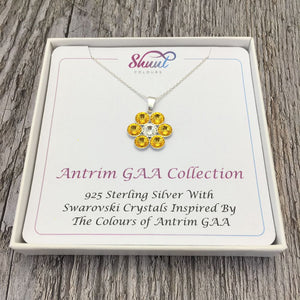 Antrim GAA County Colours 7 Drop Sterling Silver Pendant - Shuul
