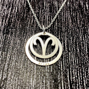 Aries Star Sign Necklace Pendant