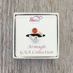 Armagh GAA Sterling Silver Ring with Swarovski Crystals - Shuul