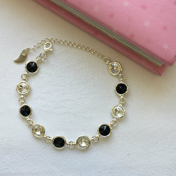 Kildare GAA Colours Inspired Sterling Silver Bracelet With Swarovski Crystals - Shuul