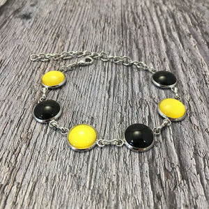 Kilkenny GAA Ladies County Colours Cabochon Bracelet - Shuul