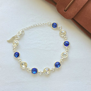 Waterford GAA Colours Sterling Silver Swarovki Bracelet - Shuul