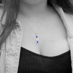 Cavan GAA Colours Sterling Silver & Swarovski Pendant Necklace - Shuul