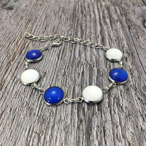 Waterford GAA Ladies County Colours Cabochon Bracelet