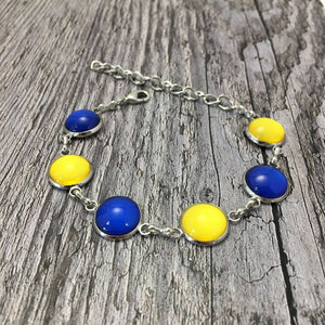 Longford GAA Ladies County Colours Cabochon Bracelet - Shuul
