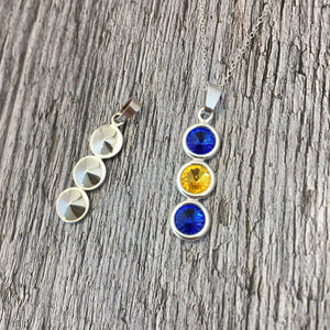 Longford GAA Colours Sterling Silver & Swarovski Pendant Necklace - Shuul
