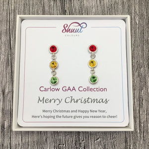 Carlow GAA Earrings - Christmas Gift Set