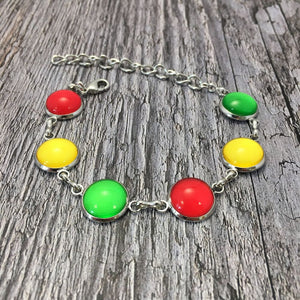 Carlow GAA Ladies County Colours Cabochon Bracelet - Shuul