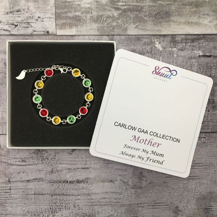 GAA Gift For Mum - Swarovski County Colour Bracelet