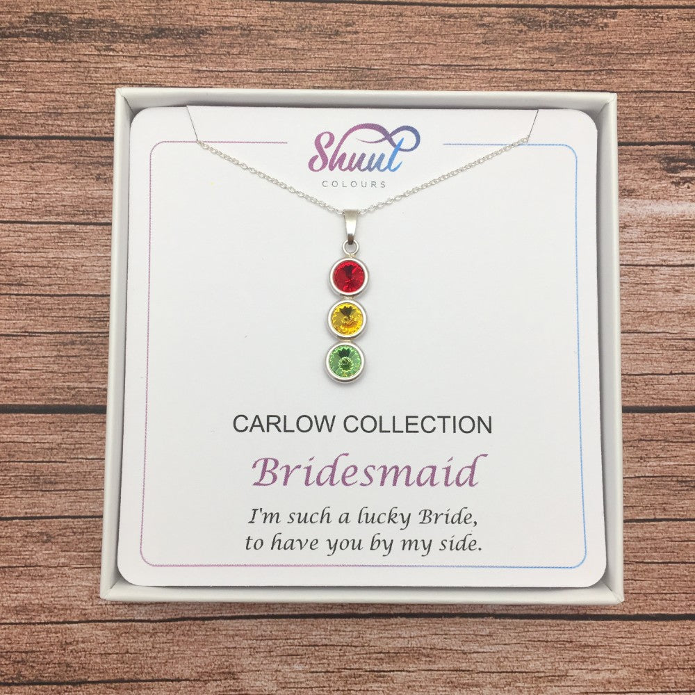 Bridesmaid Pendant Necklace Gift in GAA County Colours - Shuul