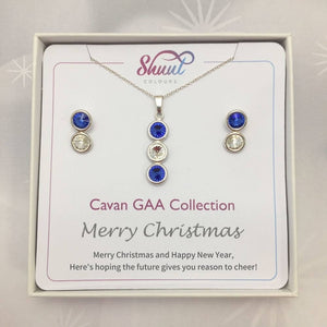 Cavan GAA Christmas Jewellery Set