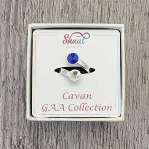 Cavan GAA Sterling Silver Ring with Swarovski Crystals - Shuul