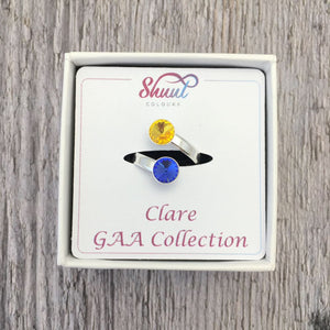 Clare GAA Sterling Silver Ring with Swarovski Crystals - Shuul