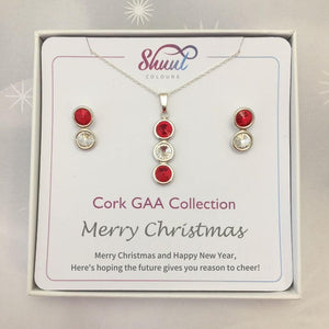Cork GAA Christmas Jewellery Set