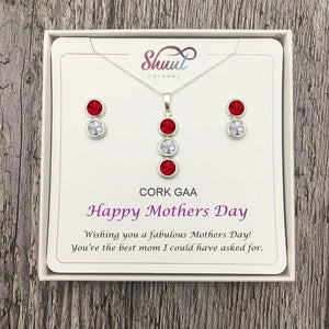 Mothers Day Gift Set - Personalised GAA County Colour Jewellery Gifts - Shuul