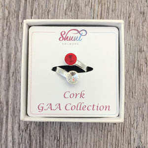 Cork GAA Sterling Silver Ring with Swarovski Crystals - Shuul