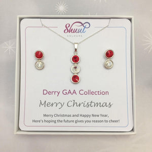 Derry GAA Christmas Jewellery Set