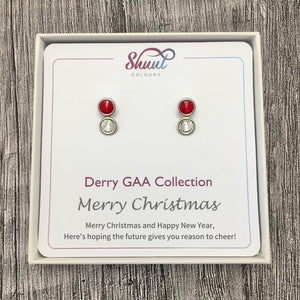 Derry GAA Earrings - Christmas Gift Set