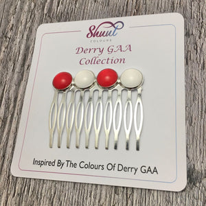 Derry GAA County Colour Hair Slide Clip - Shuul