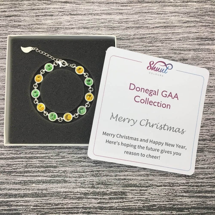 Donegal Sterling Silver Bracelet with Christmas Message